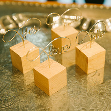 Clips Note-Holder Card Office-Stationery-Organizer Wood Photo Clamps Memo Desktop Agenda
