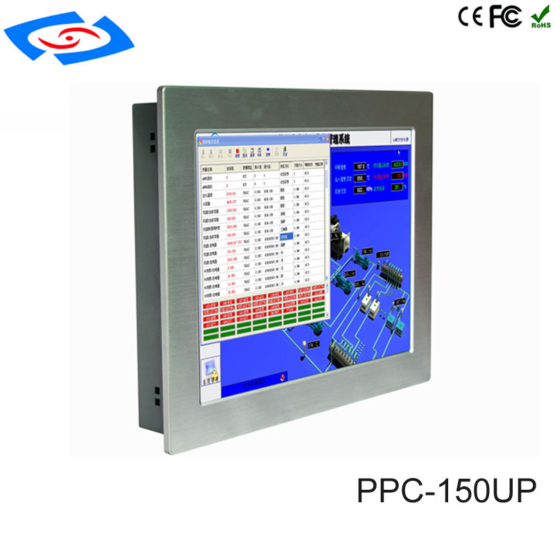The Best Factory Store Low Price 15 Touch Screen Fanless Industrial Panel Pc Support 4g/lte For Atm & Advertising Machines & Pos System Industrial Computer & Accessories