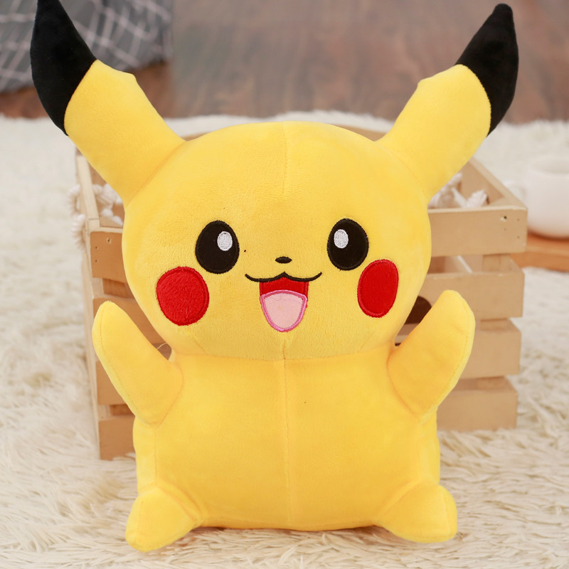 1pc 22cm Cute Pikachu Plush Toys Kawaii Stuffed Soft Animal Dolls Children Toys Cartoon Movie Character Children Christmas Gifts