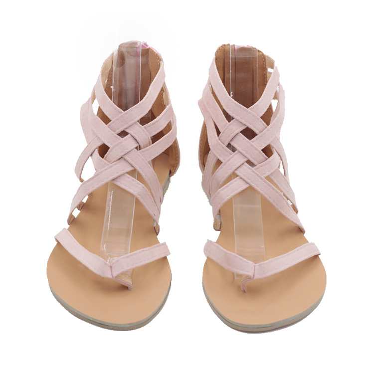 70afe1b26dfc85 Summer Women s Flat Heels Roman Style Sandals Girls Hollowed out Sandals  Casual Fashion Shoes Plus Size 34 43 B-in Women s Sandals from Shoes on ...