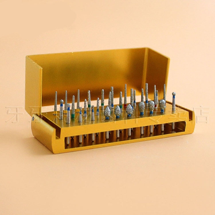 High Quality 30Pcs pack New Dental Diamond Burs Set For Porcelain Shouldered Abutment Polishing Lab Equipment