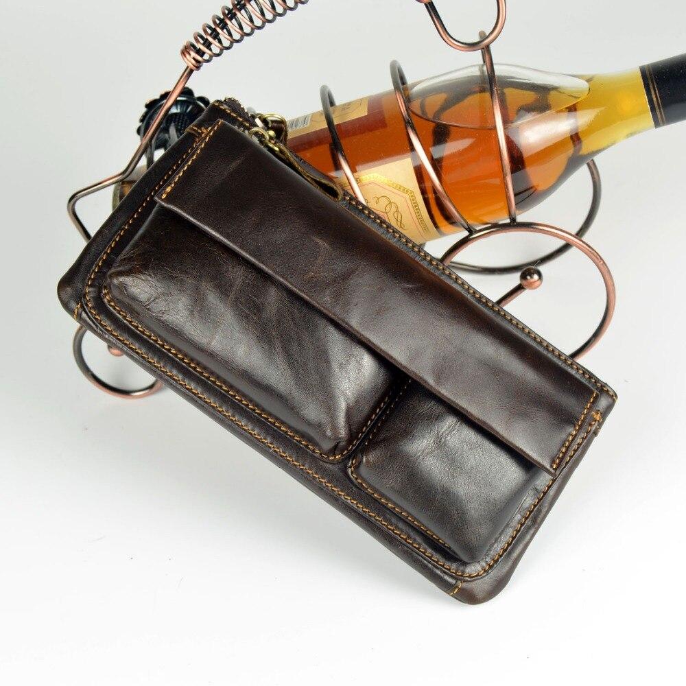 Multifuncional hombre Monedero de cuero genuino Messenger Bag bolso - Bolsos - foto 5