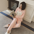 Girls Sleep & Lounge Home Long Sleeve O-neck Sweatshirts Long Pants Cartoon Autumn Winter Warm Fleece Soft Pajama Sets Q4588