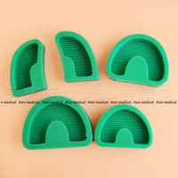 New Arrival 5pcs Set Dental Lab Silicone Rubber Plaster Former Model Base Molds Mould