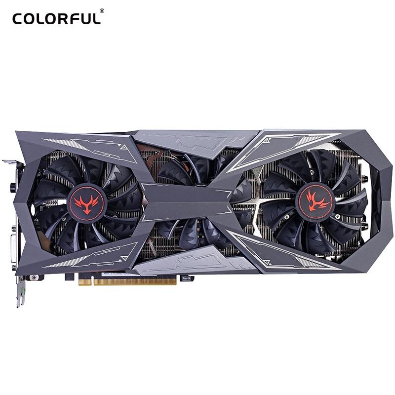 Colorful iGame GTX1080Ti Vulcan X OC GPU 1620-1733MHz 11G 352bit 11G GDDR5X 16nm Video Graphics Card цена
