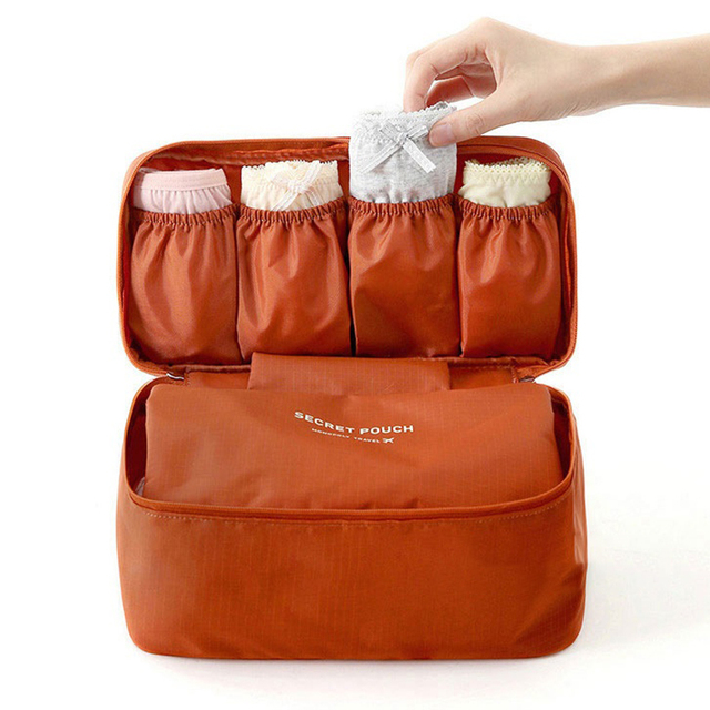 2019 New Fashion Luggage Storage Cosmetic Bags 5 Colors  Portable Bra Underwear Travel Cosmetic Wash Storage Organizer Bag