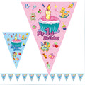 2.5 Meter My 1st Birthday cartoon pennants Paper Flag Party Decoration Banner Bunting for Children kids blue pink girl boy party