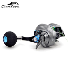 CAMEKOON Baitcasting Fishing Reels 6.3:1 Right Handle Bait Cast Reel With PE Line #3-120m tees women t shirt print letter t shirt casual short sleeve cotton tops 2019 spring summer