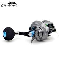 CAMEKOON Baitcasting Fishing Reels 6.3:1 Right Handle Bait Cast Reel With PE Line #3 120m