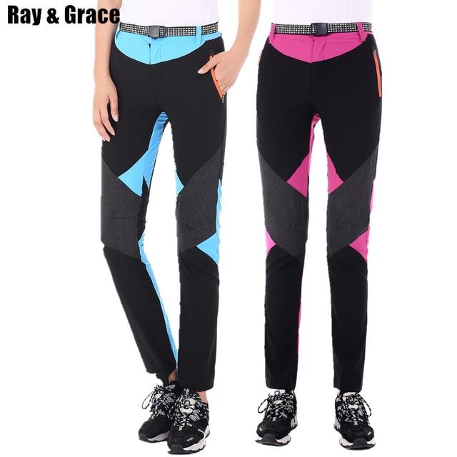f90cb6d31270 RAY GRACE Outdoor Trekking Hiking Pants Women Sports Trousers Women s  Waterproof Breathable Lightweight Pants Tourism Summer
