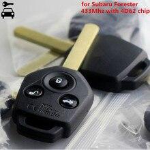 Auto Remote Key 3 Tasten 433MHz 4D62 Chip für Subaru Forester Smart Schlüssel 2008 2009 2010 2012 2013 2014 mit No.65 Schlüssel