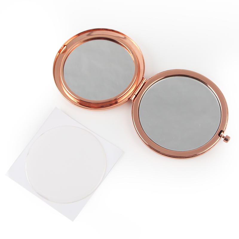 Hollow rose gold compact mirror (10)