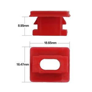 Image 3 - Hebilla de fijación para Panel Interior de 20 piezas, para BMW E46 / E65 / E66/E83N, Clips embellecedores para tablero, arandelas para insertar en tira roja