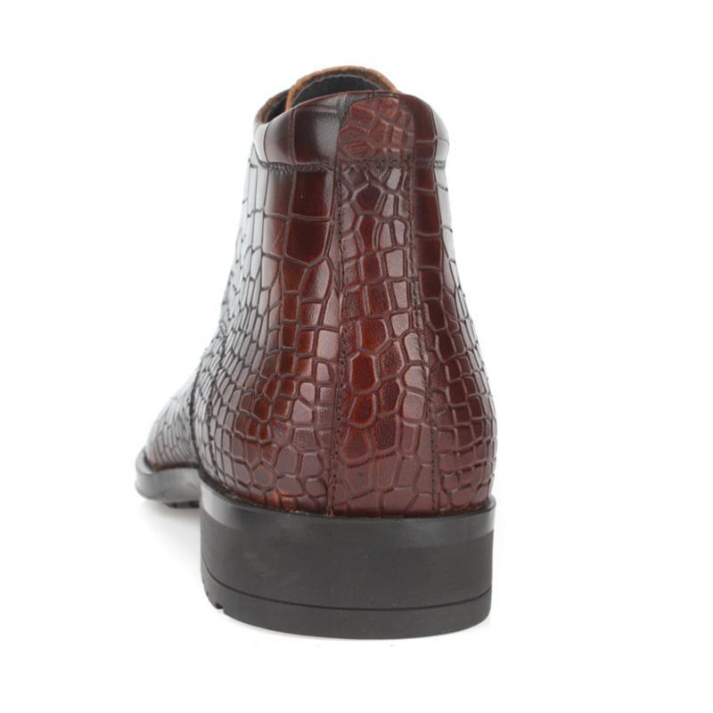 Adulto Genuíno Inverno Homem Novo Tornozelo Botas Couro Masculino Padrão De Tenis Pedra brown Calçado Sapatos Black Heinrich Homens Dos nqaFWw0Ff