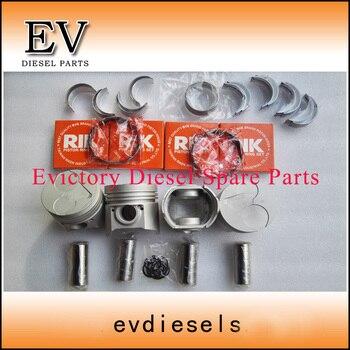 Para Kubota Piezas De Motor De Excavadora V1512 Kit De Pistón + Anillo + Junta + Rodamiento Se