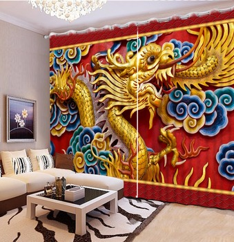 Modern Printing Curtains 3D Curtain Drapes Bedroom Hotel Stereoscopic  animal Curtains For Living Room Home Curtains