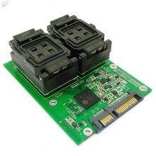 SSD NAND flash SM2256K Controller test solution for BGA152 132 100 88 LGA60 TSOP48 DIP96 Flash Memory 2 in 1 Multiple PCB board