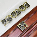 "128mmTop quality Vintage creative square Leaves wardrobe pulls Kitchen cabinet door handles 5"" Antique brass drawer knobs 224mm"