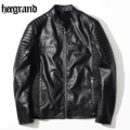HEE GRAND New Arrivals High Quality Coat Leather Jacket Men Warm Slim Men PU Motorcycle Jacket Suede Coat MWP400