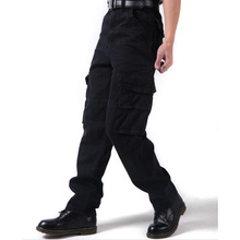New Mens pant Cotton Losse baggy pants overalls overall Man Bottoms Big Size Trousers
