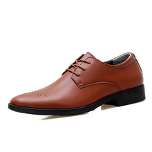 simple classic brogue style mens business dress shoes men black brown white color office work leather shoes gents derby shoes
