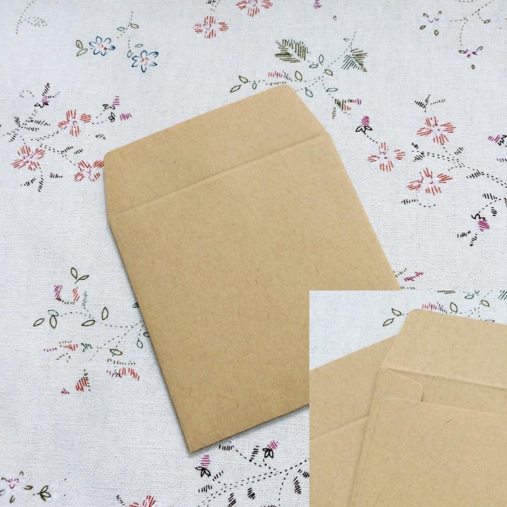 100PCS/lot 8*8cm Kraft Envelopes Square small envelope card bank card membership card envelope Wedding Party Invitation Card