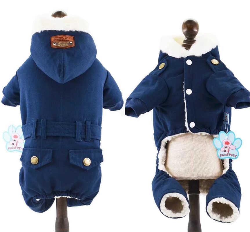 Пальто для собак Одежда для домашних животных зимний теплый комбинезон для собак Одежда для собак Roupa Cachorro одежда для маленьких собак 2 цвета XS S M L XL