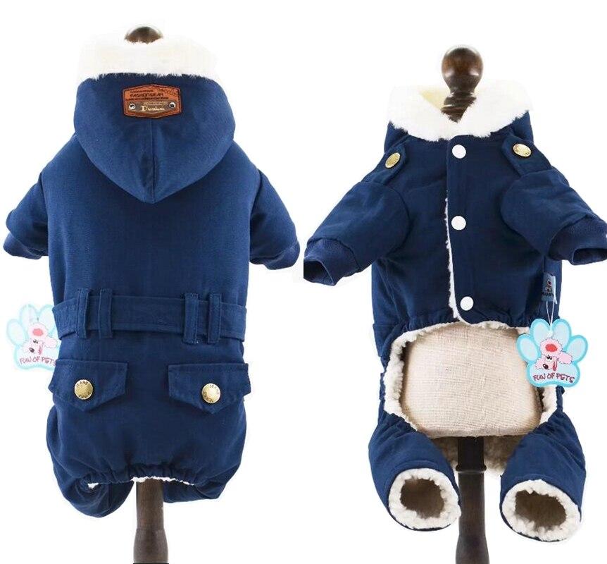 Manteau chien animaux vêtements hiver chaud chien vêtements combinaison animal tenue Roupa Cachorro vêtements pour petits chiens 2 couleur XS S M L XL