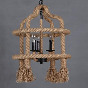 Amerikaanse Vintage Touw-plafond lamp 3