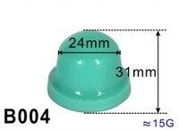 Cabezal de goma de silicona para máquina de impresión de almohadillas, diámetro de 24mm, base de madera