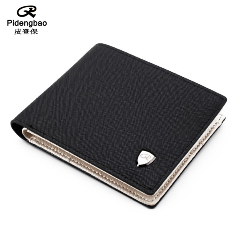 PIDENGBAO Synthetic Leather Wallet Fashion Short Bifold Men Purses Casual Soild Men Wallets With Coin Pocket Purse Male Wallet zelda wallet bifold link faux leather dft 1857