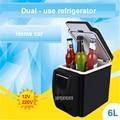 6L Mini voiture réfrigérateur dispositif de réchauffement 2 en 1 multifonction 12 V voyage réfrigérateur congélateur réfrigérateur double usage chaud et froid boîte 28 48 W|Réfrigérateurs| |  -