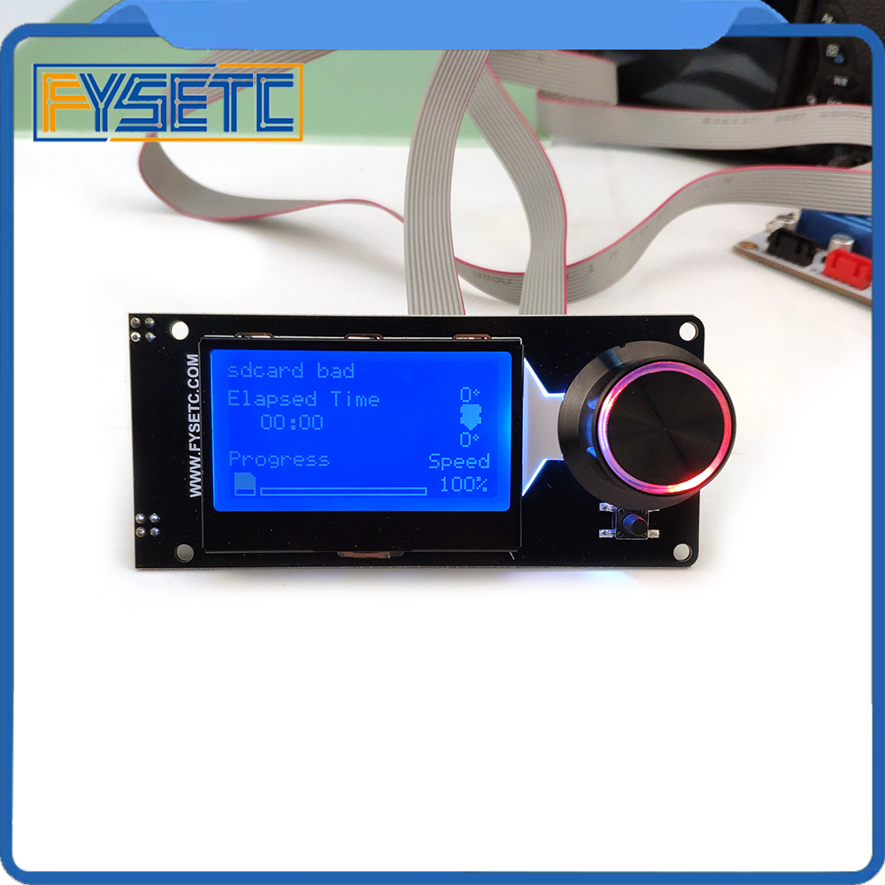 mini 12864 Smart Display MINI12864 LCD Display Screen 128x64 5V Supports Marlin DIY With SD Card For SKRS 3D Printer Accessories