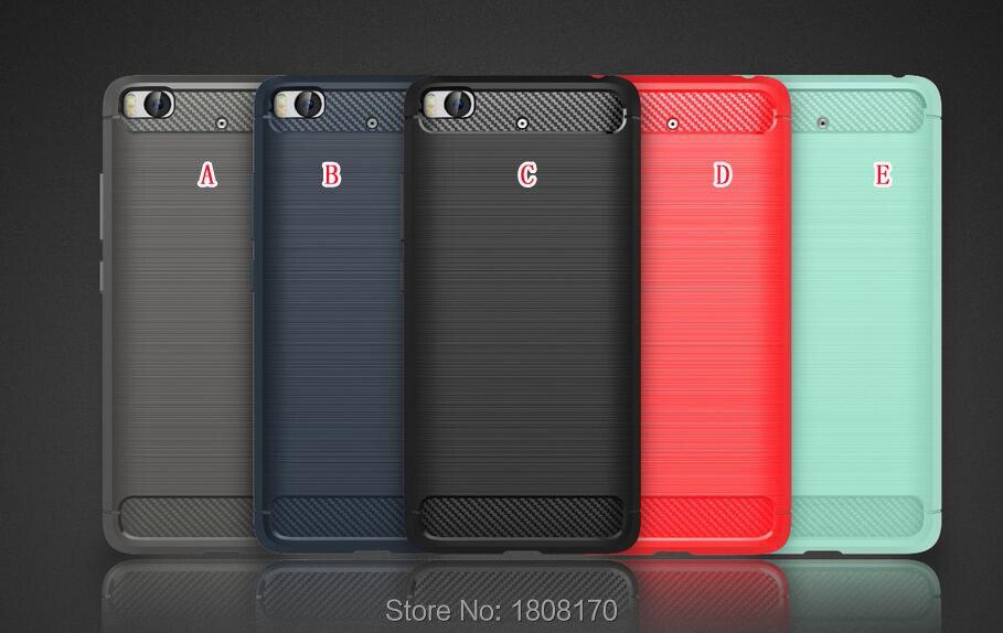 Escova de Fibra De carbono Híbrido Armadura Caso Para Xiaomi 5S Plus 5 Mi5  Redmi Hongmi M5 Pro NOTE3 NOTA4 3 S Macio TPU PC Capa À Prova de Choque 399ca66137