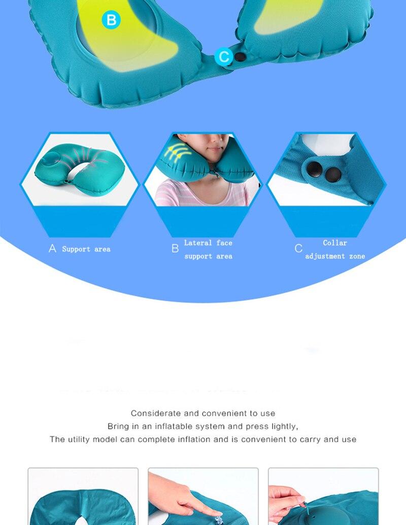 Almofadas de sono pescoço apoio inflável avião