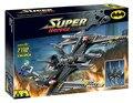 Decool 7112 Super Heroes Бэтмен и Джокер Batwing строительные Блоки Кирпичи Игрушки для детей Мальчик Игра Совместима с Лепин Бела 7782