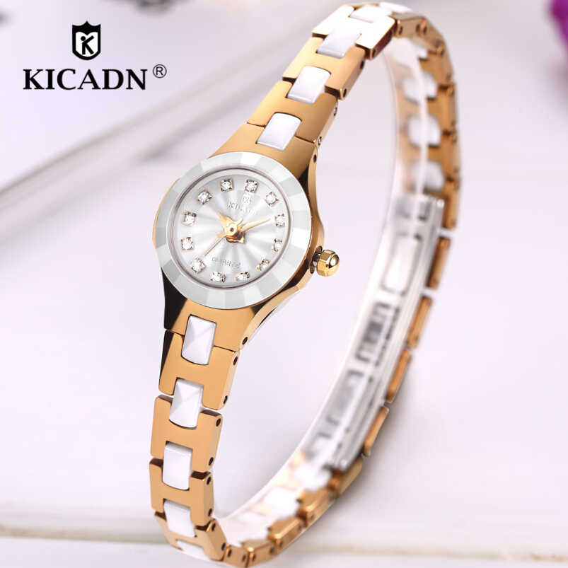 KICADN Watch Kvinders Quartz Watches Fashion Ladies Små Armbånd - Dameure - Foto 1