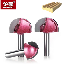 HUHAO 1pc Shank 8mm Radius Round Grooving Cove Box Bit CNC Round Nose Router Bits For Wood Industrial Grade Woodworking Endmill huhao 1pc 1 2 shank cnc bit woodworking tools two flute router bits for wood cutting professional grade door router tool