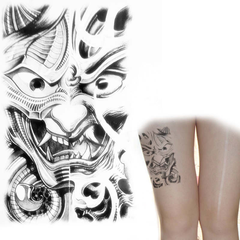 Temporary tattoos for men ferocious eyes stare you tattoo for Tattoo transfer paper