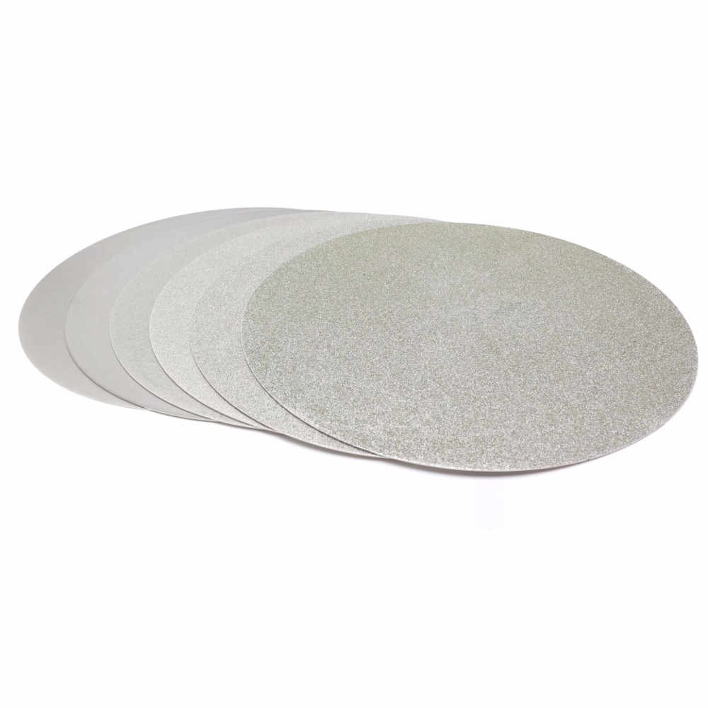 NO CENTER HOLE 8 inch Grit 80-1200 Diamond Grinding Disc Abrasive Wheels Coated Flat Lap Disk Jewelry Tools for Stone Gemstone 1a1 flat shape diamond coated abrasive wheel grinding disc for tungsten carbide tools d100 hole 20mm grit 80 600 e006