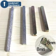 HA1024 комплектующие дверного замка квадратная стальная полоса вращающийся вал 8x8 мм 40-210 мм 1 шт. для ворот спальни ванной комнаты