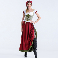 S XL New Design Adult Little Riding Hood Fantasy Game Halloween Cosplay Fancy Dress Carnival Outfit
