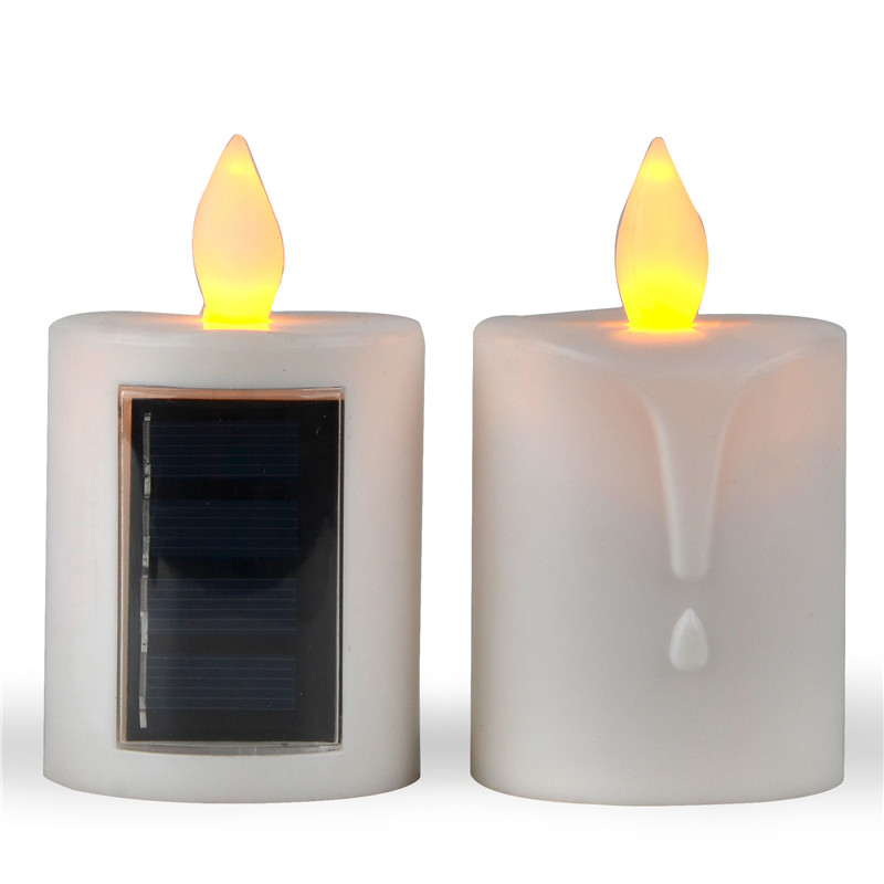 Solar Powered Christmas Window Candles With Amber Flickering Light Solar  Powered Candle Lantern Outdoor Candle Lamps In Candles From Home U0026 Garden  On ...