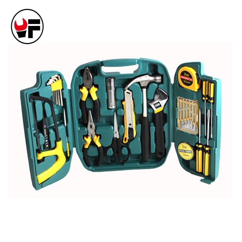 27 pcs conjunto de ferramentas Chave De Fenda reparação Conjunto kit faca em um mala de viagem para casa ferramenta de mão caixas de instrumentos caixa de ferramenta DN107