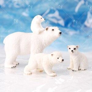 DIY 3D полярный медвежонок, силиконовая форма для украшения торта, помадный десерт, выпечки, ручной работы