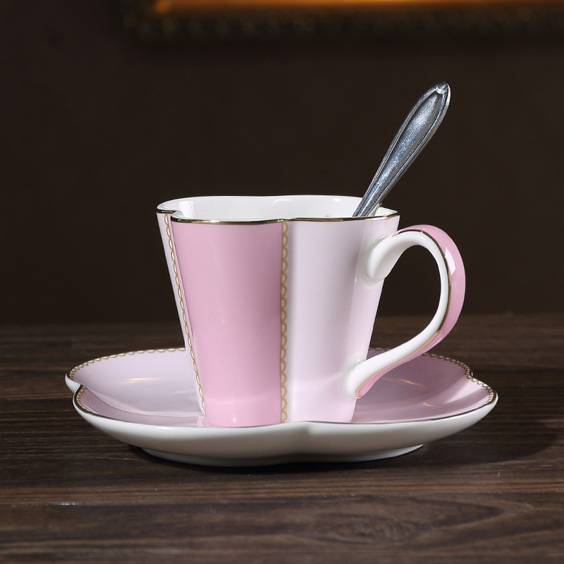 Japanese Style Joyous Pink Blue Filter Ceramic Color Glaze Flower Tea  Teapot With Coffee Cup Mugs Flower Shape Saucer Spoon Kit In Mugs From Home  U0026 Garden ...