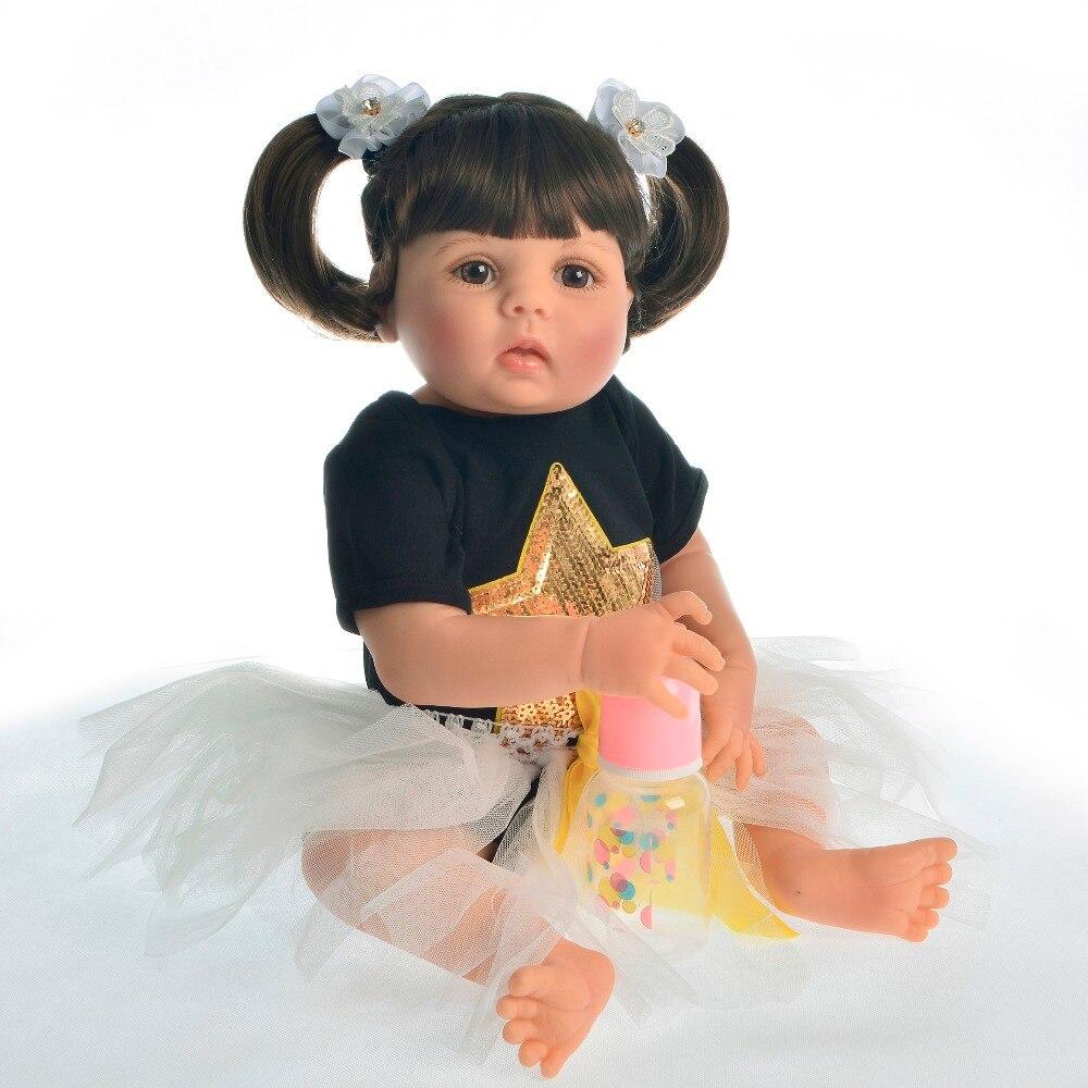 Oyuncaklar ve Hobi Ürünleri'ten Bebekler'de Yeni 23 Inç Gerçekçi Reborn Bebekler Tam Vücut Silikon Saf El Yapımı Bebek Oyuncak Çocuk Doğum Günü noel hediyesi'da  Grup 2