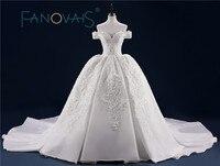 Luxury Wedding Dress Full Beading Lace Bridal Gowns With Long Train Sequin Beads Pearls Vestido de Novia Wedding Dresses