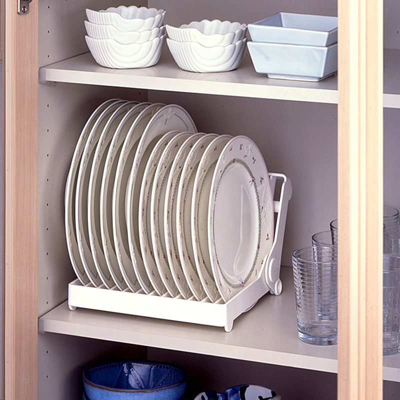Kitchen Foldable Dish Rack Stand Holder Bowl Plate Organizer Tray Tableware Storage Drying Drainer Drip Shelf Tools In Racks Holders From Home