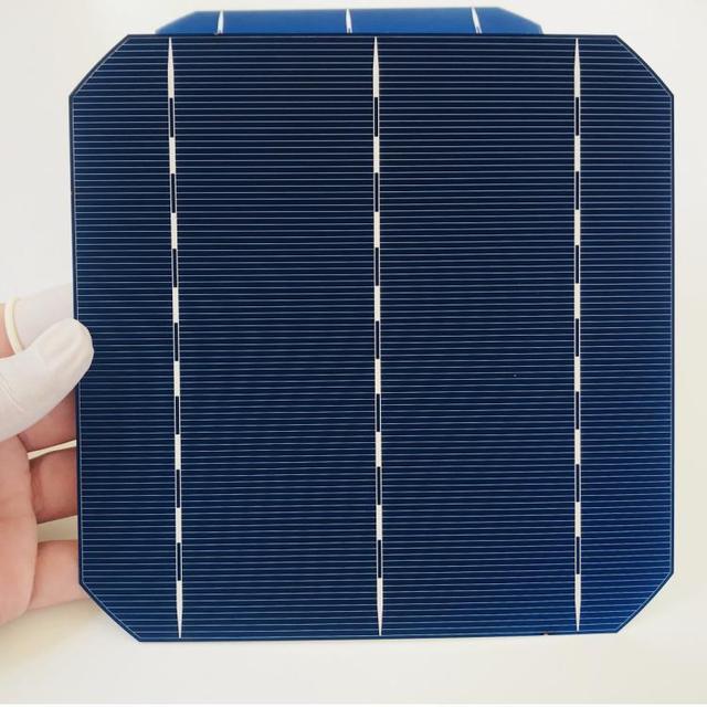 ALLMEJORES 25pcs Monocrystalline solar cell 0.5V 4.8W Grade A Type 156mm Photovoltaic panel cell  diy 120W 12V Mono solar panel